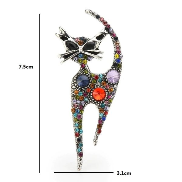 broche-chat-strass-femme-multicolor-dimensions